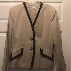 Oleg Cassini Jacket, beige and black